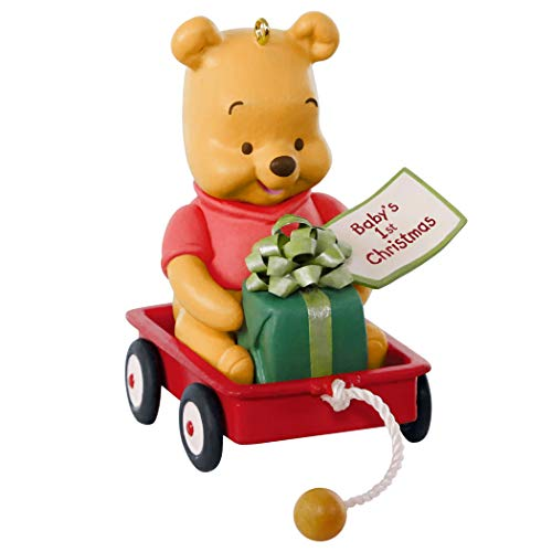 Hallmark Keepsake Ornament 2019 Year Dated Disney Winnie The Pooh Baby's First Christmas (Christmas La Ornament)
