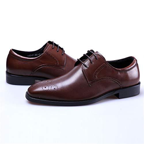 36bb295d Boda Hombre Moda 37 Negocios Oxford Calzado Negro Red Cordones zapatos  Cuero Vestir Brogue Para Marron ...