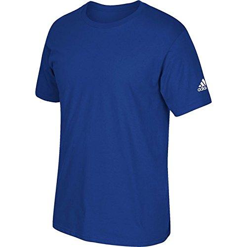 adidas Adult Short Sleeve Logo T-Shirt Royal ()
