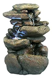 Alpine WIN472 3-Tier Rock Fountain with LED Light