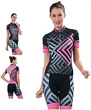Cycle Clothes Profession Bike Clothing Women MTB Summer Set+Silica Bib Shorts+Reflective Strip+Back Pocket