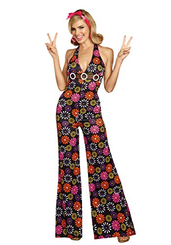 Disco Halloween Costumes For Couples (Dreamgirl Groovy Baby (Women's), Multi,)