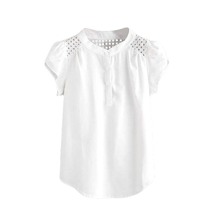 Amazon.com: Camisa de manga corta para mujer, manga de ...