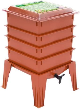 Nature s Footprint The Worm Factory 360 4-Tray Worm Composter – Terracotta