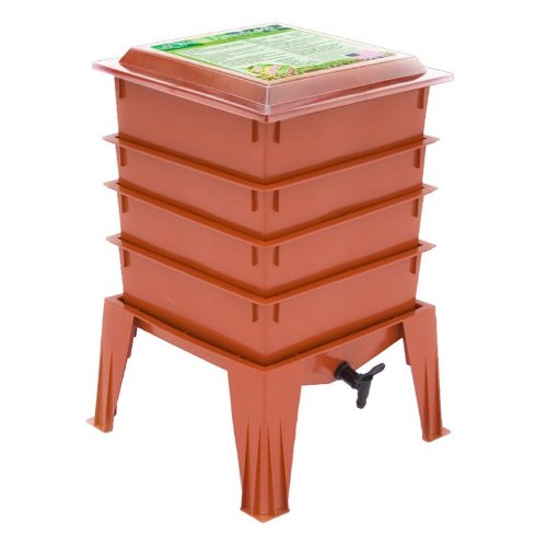 The Worm Factory 360 4-Tray Worm Composter - - Terra Worm Design Cotta