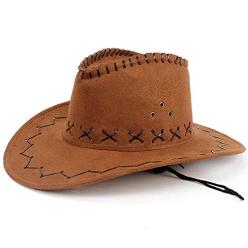 HMILYDYK Wild Brim Cowboy Hat Fancy Dress Party Accessory Country Western (Countries Costumes Fancy Dress)