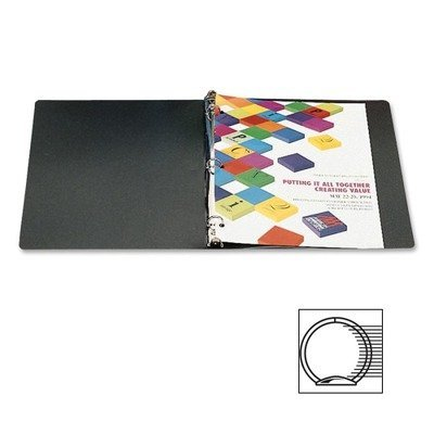 ACCO : Accohide Poly Ring Binder w/35-Pt. Cover, 1in Capacity, Black -:- Sold as 2 Packs of - 1 - / - Total of 2 Each