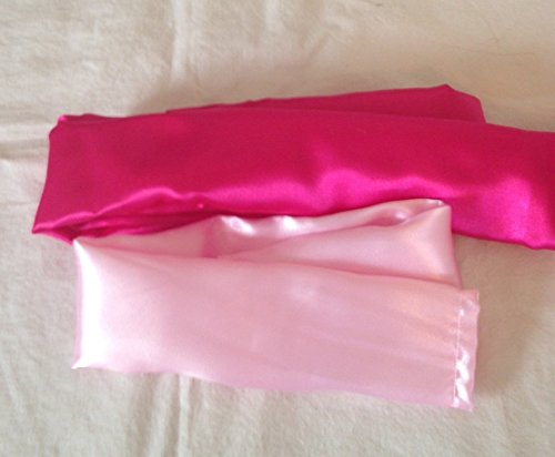Pink Satin Fabric Cord Cover Handmade Variety of Shades and Sizes