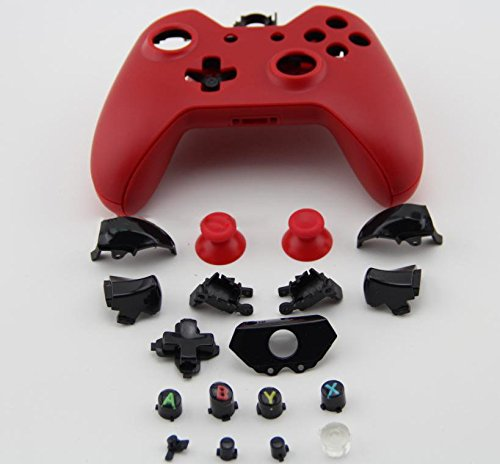 Matte Red Full Cover Housing Shell Case for Microsoft Xbox One Wireless Controller