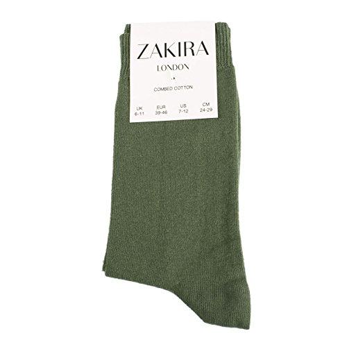 ZAKIRA Fines Chaussettes Élégantes en Coton Peigné à Couleurs Vives, pour les Femmes et les Hommes 4