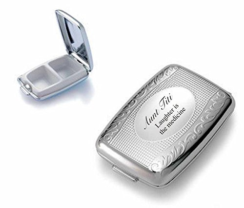 - Personalized Silver Pill Box Engraved Free