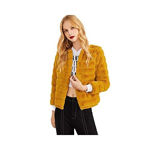 end Élégant Manteau Casual Lady Femmes Week Streetwear Survêtement A Campus Guqi Moderne Fourrure Ginger Fausse Solide H0UwnCq