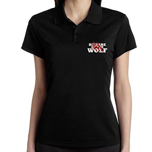 Teeburon Beware of the Wolf Polo Donna