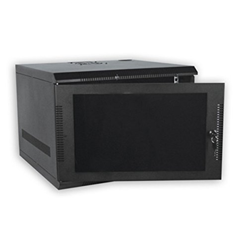 100 Series Compact Wall Mount Enclosure Color: Black, Rack Spaces: 7RU by Quest Manufacturing