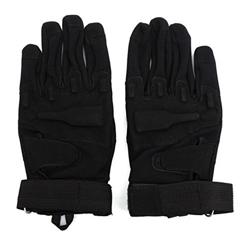 Gloves - SODIAL(R) Motorcycle Gloves Full Finger Airsoft Combat Gloves L black