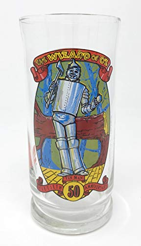 1989 Wizard of Oz 50th Anniversary & Coca-Cola Tin Man 16 oz. Glass Tumbler - Officially Licensed
