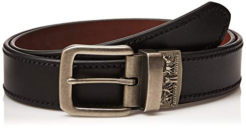 Levi's Men's Big-Tall 1 9/16 in. Reversible Belt-Black/Tan, 46