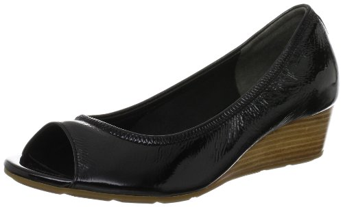Cole Haan Women's Air Tali OT Wedge 40 Pump,Black Patent,5 B US