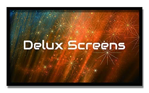 Delux Screens 135 inch 4K/8K Ultra HDR Projector Screen - Active 3D Ready - 6 Piece Fixed Frame - Home Theater Movie Projection Screen - Silver HIGH Contrast - Velvet - Silver Screen Video