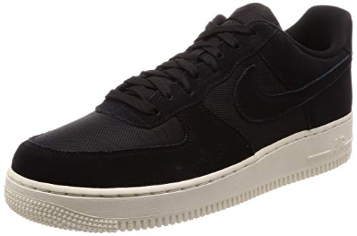 Nike Mens Air Force 1 07 Suede Textile Black Pale Ivory Trainers 10 US
