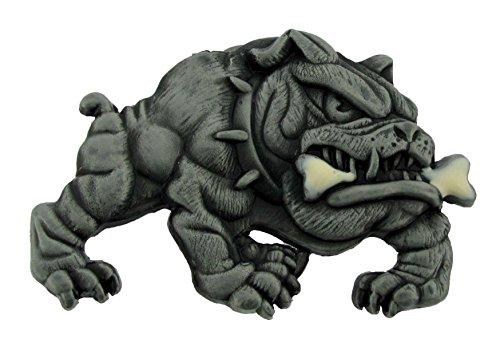 Bull Dog Belt Buckle English Dog Pet Paw Tough Mad Dog Fashion Costume Accessory ()