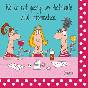 amazon   bunco napkins we do not gossip we distribute vital information