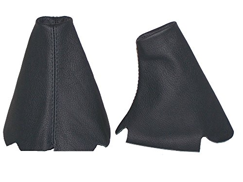 The Tuning-Shop Ltd For Land Rover Discovery Series 1 (1995-1998) Or Series 2 (1999-2004) Automatic Set Of 2 Gaiters Custom Made Boots Black Genuine Italian Leather