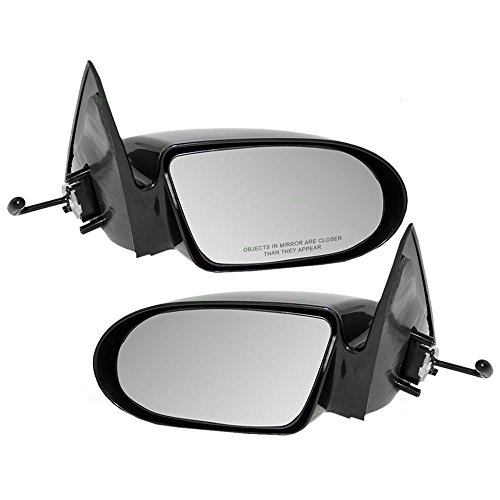 (Driver and Passenger Manual Remote Side View Mirrors Replacement for Geo Chevrolet 30014015 30014939 AutoAndArt )