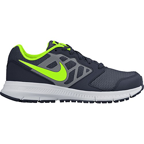 NIKE Boys' Downshifter 6 (GS/PS) Running-Shoes, Obsidian/Electric Green/White/Cool Grey, 11 M US Little Kid