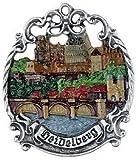Heidelberg Germany Pewter Christmas Ornament