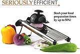 BeesClover 1Set Multi-Function Kitchen Slicer Set Mandoline- with Stainless Steel Sharp Blade BPA-Free ABS (V-Slicer Black Color)(206) Show