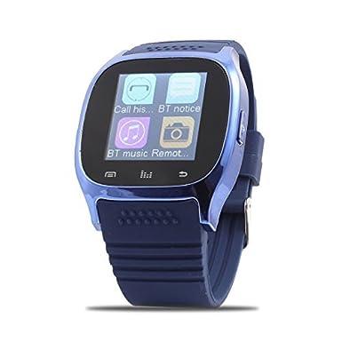Amazon.com: eDealMax Llamadas Deporte M26 sincronización del teléfono inteligente Anti-pérdida del reloj Azul Para iOS teléfonos inteligentes Android: Cell ...