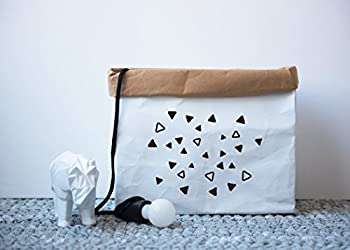 Shoe Storage, Magazine Storage, Water Resistant Paper Storage Basket, Bedroom Organization, Bathroom Storage, Monochrome Home Decor