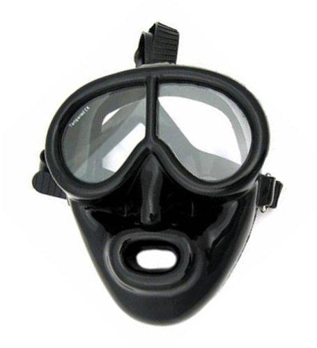 IST Full Face Black Rubber Dive Mask - Scuba Mask
