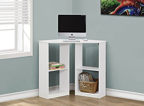 "36""LONG JUVENILE WHITE CORNER COMPUTER DESK Furnituremaxx"