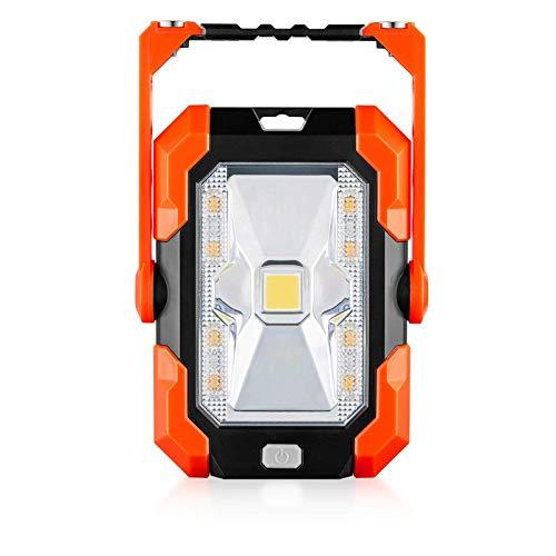 WOERD Led Baustrahler Akku, LED Arbeitsleuchte Wiederaufladbares, Solar Bauscheinwerfer 4 Modi Tragbares Wasserdichter…