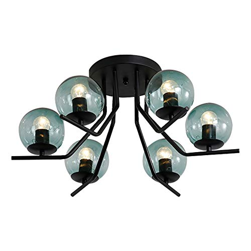 Windsor Home Deco, WH-62789-6, Modern Ceiling Lamp, 6 Lights Chandelier Lamp, Ceiling Lamp for Bedrooms, Ceiling Lighting, Bulb Included