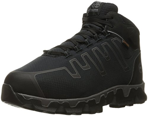 Timberland PRO Men's Powertrain Sport Internal Met Guard Alloy Toe Industrial & Construction Shoe, Black Synthetic, 8 M US