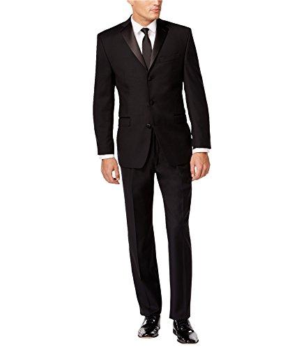 Calvin Klein Mens Modern Tuxedo, Black, 44 Short / 38W x UnfinishedL