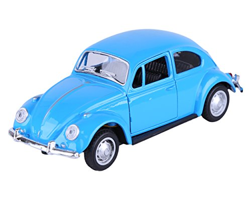 Berry President(TM) Classic 1967 Volkswagen Vw Classic Beetle Bug Vintage 1/32 Scale Diecast Metal Pull Back Car Model Toy For Gift/Kids (Blue) (Scale Model Collectors)
