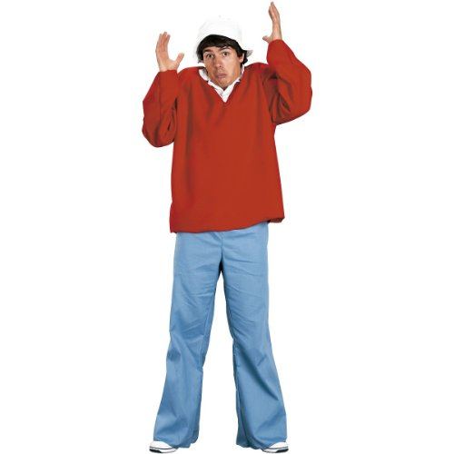 FunWorld Gilligan Island Costume, Red, One size (Fantasy Island Halloween Costumes)