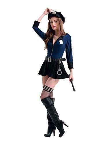 [JJ-GOGO Sexy Police Woman Uniform Cop Dress] (Sexy Cop Uniform)