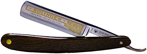 "Shave Ready Dovo Prima Klang Straight Razor, 5/8"", Carbon Steel Extra Full Hollow Ground, Bocote Handle"