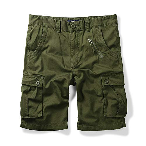 OCHENTA Men's Cotton Military Cargo Shorts, 6 Pockets Casual Work Outdoor Wear