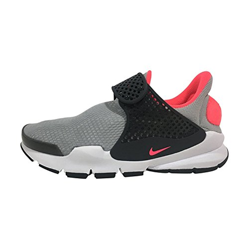 NIKE Youth Sock Dart Athletic Shoes-Anthracite/Hot Punch/Wolf Grey-6