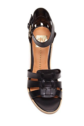 Dolce Vita DV by Dolce Vita Cho Wedge Black leather Sandals womens dklamP