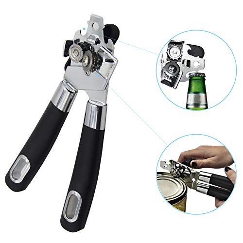 Manual Can Opener With Soft Grip Handle Safe Manual Can Opener Ideal for Seniors and women (Openers Can Nice)