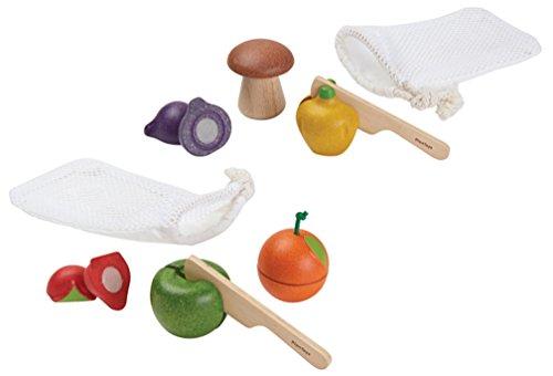 PlanToys Sliceable Fruits & Veggies Set (Plan Toys Food)