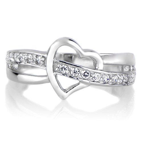 Heart & CZ Promise Ring - Partial Pave Shopping Results