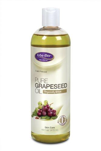 Жизнь-Flo Органическая Чистый Масло из виноградных косточек, 16 унций